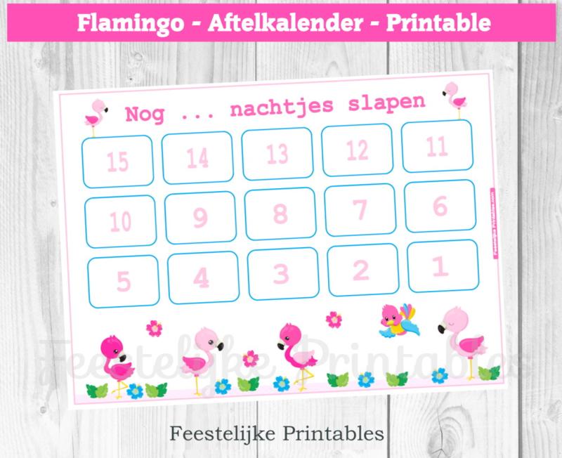 Aftelkalender Flamingo