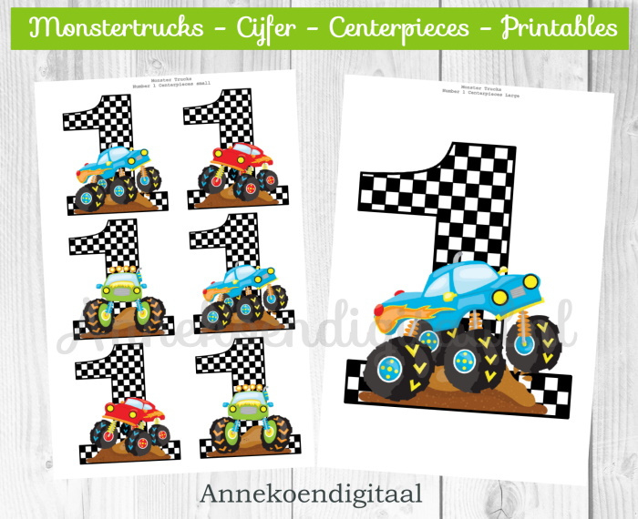 Monstertrucks cijfer Centerpieces