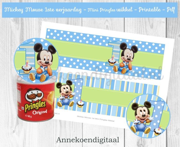 Mickey Mouse 1ste Mini Pringles Wikkels