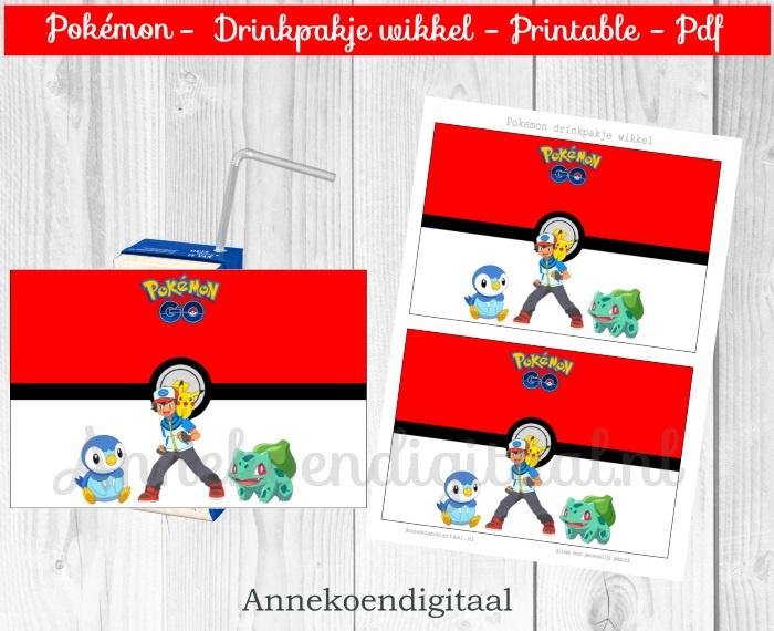 Pokemon drinkpakje wikkel