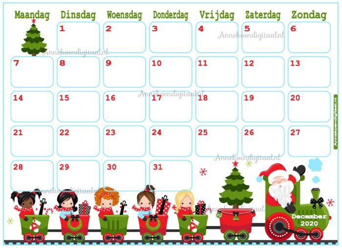 December 2020 kalender serie Meisjes