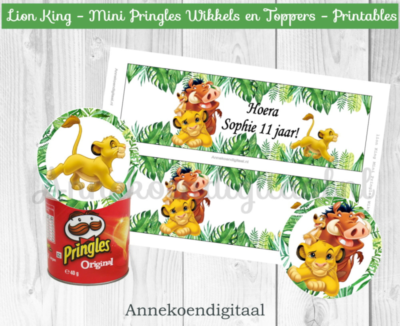 Lion King Mini Pringles Wikkels