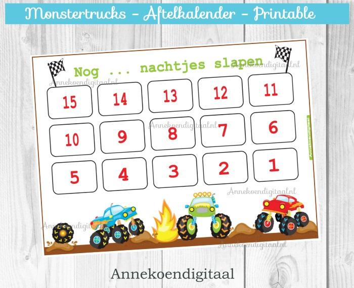 Aftelkalender Monstertrucks