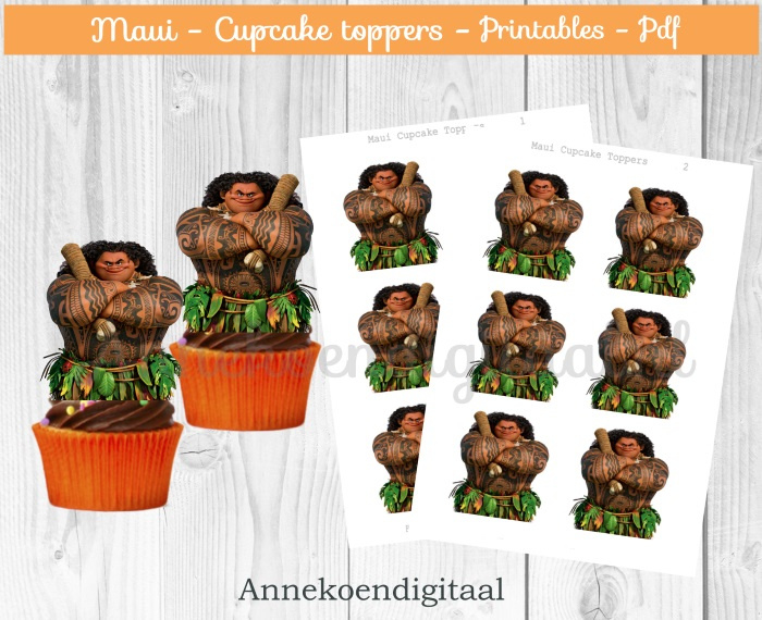 Maui cupcake Toppers
