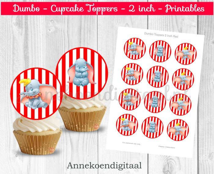 Dombo toppers 2 inch rood