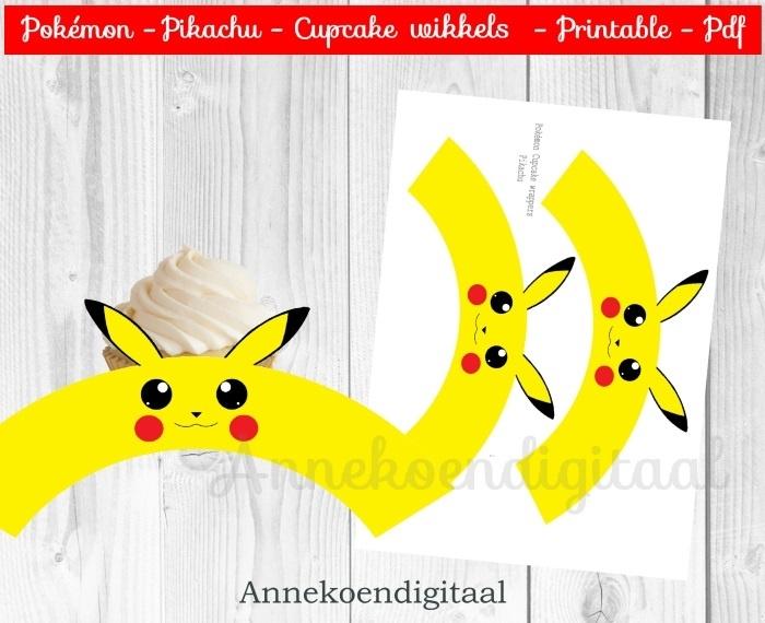 Pokémon Pikachu cupcake wikkels