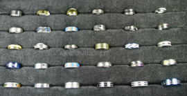 Diverse RVS ringen 30 stuks 1060