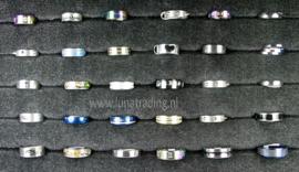 Diverse RVS ringen 30 stuks 1067