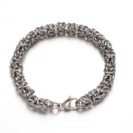 Armband RVS  M/V 309 koningsschakel