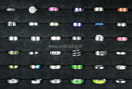 Diverse RVS ringen 30 stuks 1092