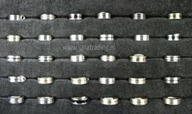Diverse RVS ringen 30 stuks 1073