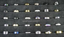 Diverse RVS ringen 30 stuks 1079