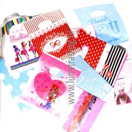 Plastic cadeau zakjes 100 stuks