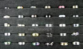 Diverse RVS ringen 30 stuks 1070
