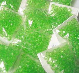 Kunststof facet 8 mm. 100 stuks groen