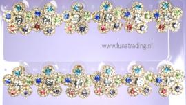 387  Display oorstekers High Rhinestones  12 paar