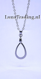 2011 RVS ketting met hanger M/V