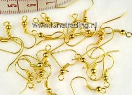 oorbelhaakjes goud kleur 40 stuks.