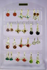 424  Display oorstekers Italiaans design 12 paar