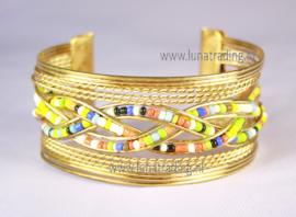 Armband gevlochten met kraaltjes