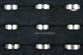 Diverse RVS ringen 30 stuks 1102
