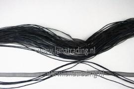 organza/waxcord halsketting 5 stuks