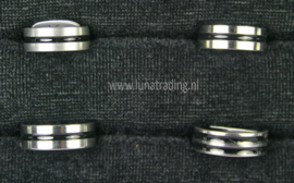 Diverse RVS ringen 30 stuks 1104