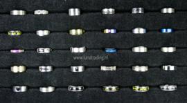 Diverse RVS ringen 30 stuks 1099