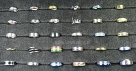 Diverse RVS ringen 30 stuks 1063