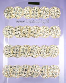 Display oorstekers High Rhinestones  12 paar  384