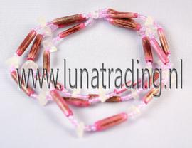 768 Armband rozequarts 3 stuks