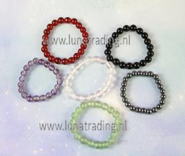 100 stuks edelsteen ringen