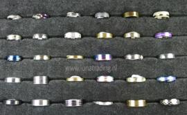 Diverse RVS ringen 30 stuks 1082