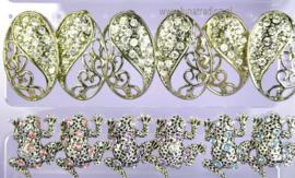 Display oorstekers High Rhinestones  12 paar  389