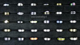 Diverse RVS ringen 30 stuks 1096
