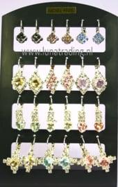 421  Display oorstekers Italiaans design 12 paar