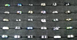 Diverse RVS ringen 30 stuks 1062