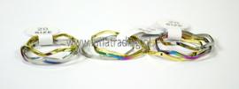 Driedelige RVS ringen  50 stuks 1057