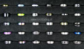 Diverse RVS ringen 30 stuks 1090