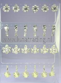 609  Display oorbellen 12 paar