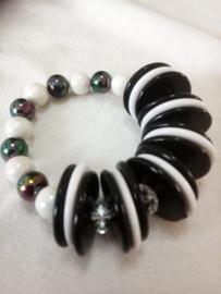 armband zwart/wit