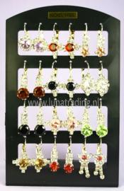 415  Display oorstekers Italiaans design 12 paar