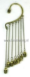 Oorhanger lang brons kleur met skull 21510