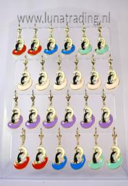 Display oorbellen 12 paar  536