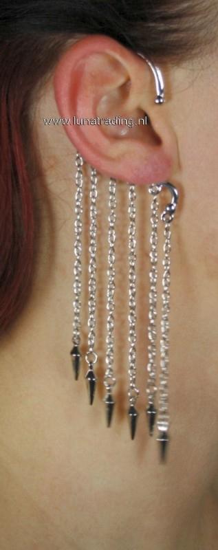 Overhang oorhanger kegel zilverkleur 21506