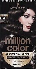 SCHWARZKOPF Million Color 3-65 chocolade bruin