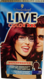 SCHWARZKOPF LIVE Color XXL 48 red night