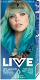SCHWARZKOPF LIVE Ultra bright 096 Turquoise temptation