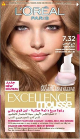 L'Oréal Excellence Mousse 7.32 Caramel licht bruin
