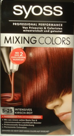 SYOSS mixing colors nr 5-25 intens kersen rood